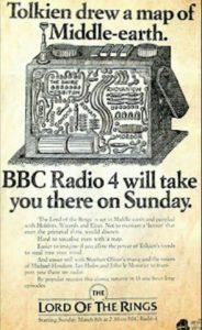 pubblicità podcast signore degli anelli della bbc